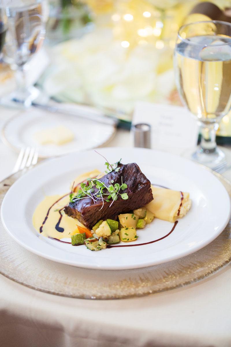 Beautifully displayed dish
