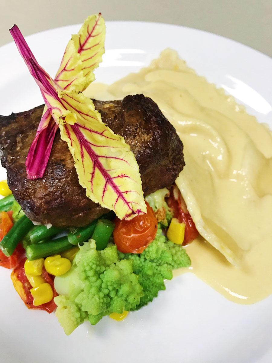 Beautifully served dish