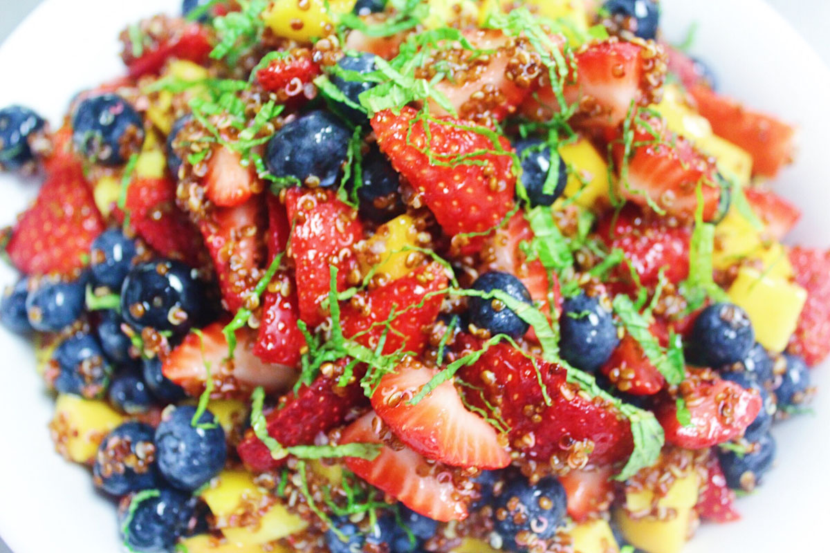 Mouth watering fruit salad