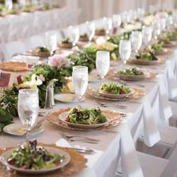 Table beautifully set for an event