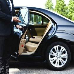Man opening car door